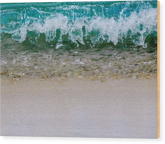 Sea Shore Colors Wood Print