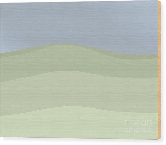 Sea Sky Variation 2 Wood Print