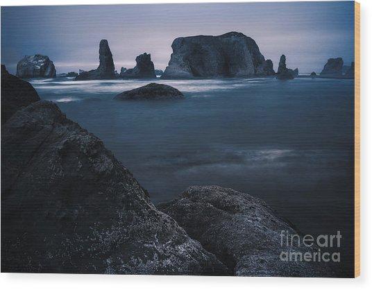 Sea Stack Galloree Wood Print