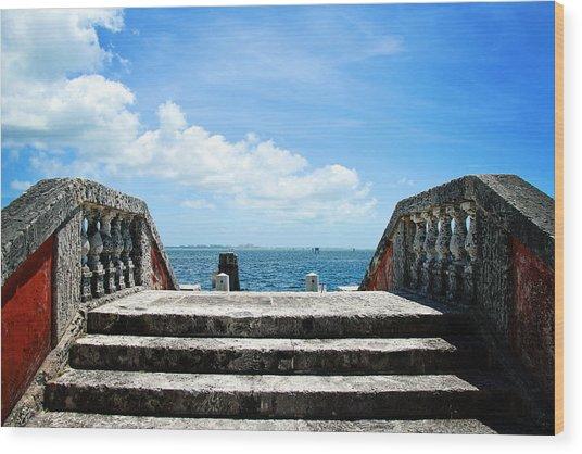Sea Stairs Wood Print