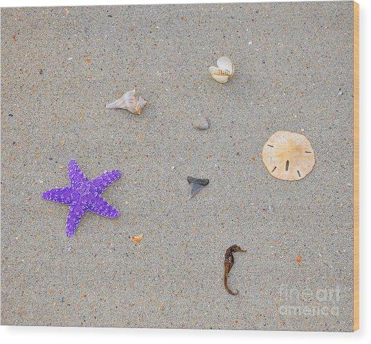 Sea Swag - Purple Wood Print