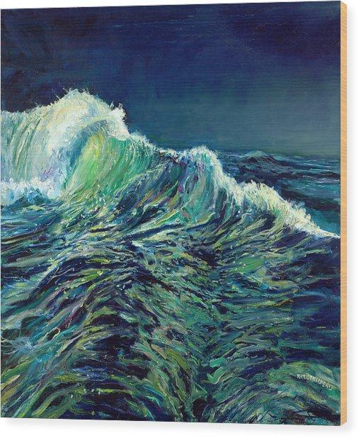 Sea Swells Wood Print