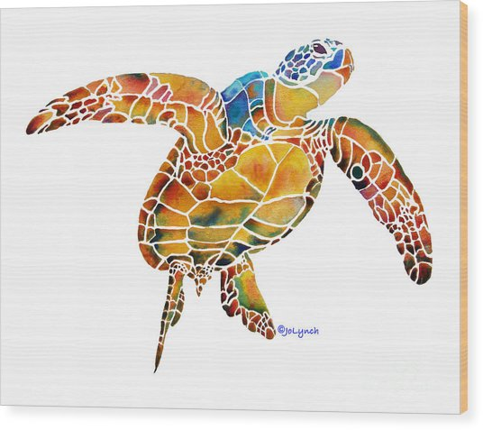 Sea Turtle Gentle Giant 2 Wood Print