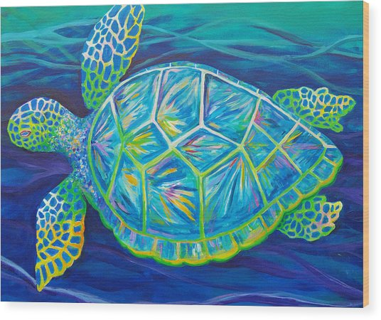 Sea Turtle I Wood Print