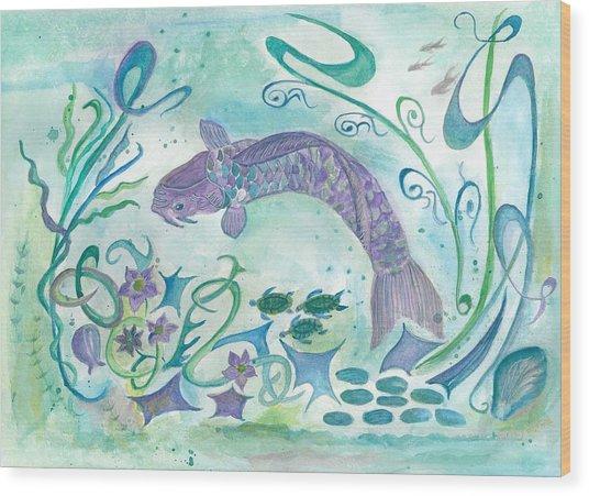 Sea World -painting Wood Print