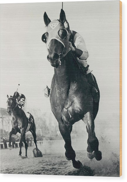 Seabiscuit Horse Racing #3 Wood Print