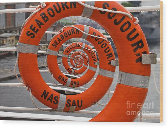 Seabourn Sojourn Spiral. Wood Print