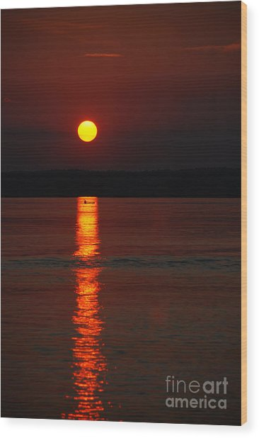 Seabrook Sunset Wood Print