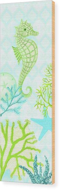 Seahorse Reef Panel I Wood Print