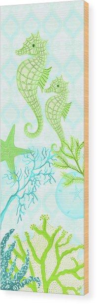 Seahorse Reef Panel II Wood Print
