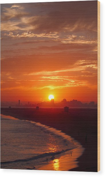 Seal Beach 7 Wood Print