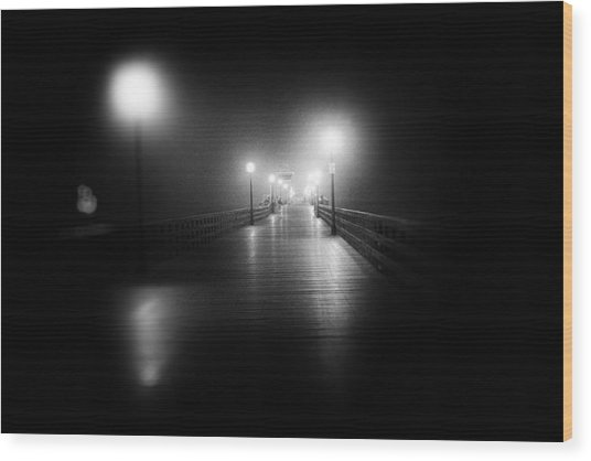 Seal Beach Pier - 2014 Wood Print