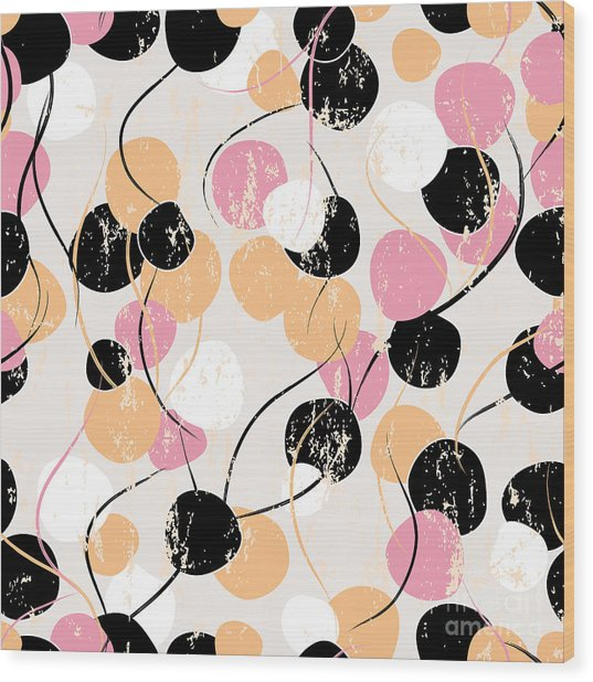 Seamless Background Pattern, With Wood Print by Kirsten Hinte