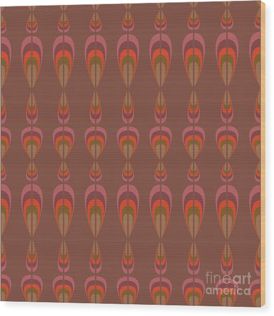 Seamless Geometric Vintage Wallpaper Wood Print