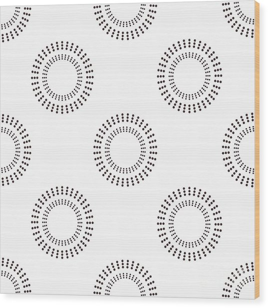 Seamless Pattern With Circles. Vector Wood Print