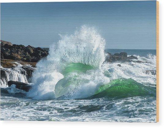 Seascape 3 Wood Print by David Rothstein