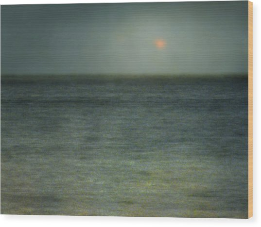 Seascape #5. Sun Sea Horizon Wood Print