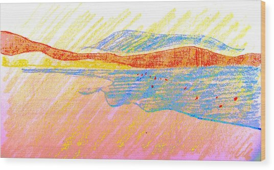 Seascape Limassol Cyprus Wood Print