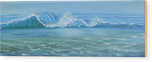 Seascape Wave IIi Wood Print