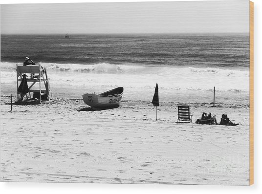 Seaside Beach Days Wood Print by John Rizzuto
