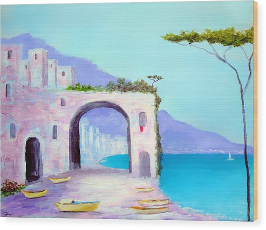 Seaside Colors Of Southern Italy Wood Print