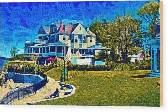 Seaside Resort Wood Print