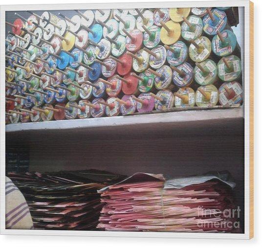 Season Of Kites Wood Print by Ankit Garg