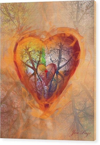 Season Of The Heart Wood Print