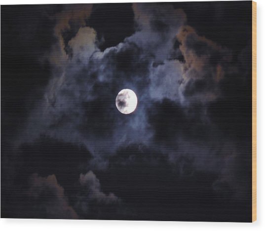 Seasonal Blue Moon IIi Wood Print