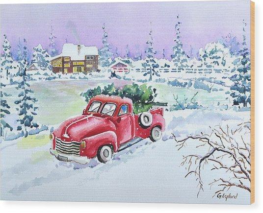 Winter Season Wood Print