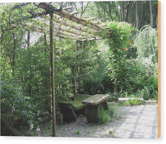 Seat Of Nature Wood Print