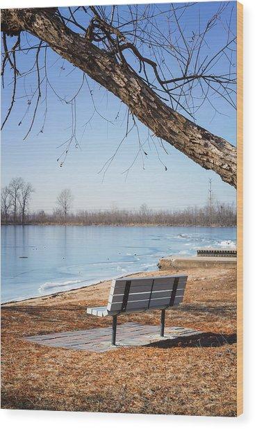 Seating Bench Wood Print