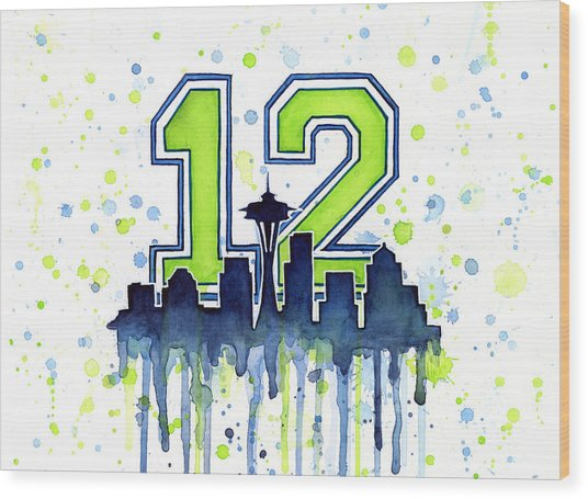 Seattle Seahawks 12th Man Art Wood Print