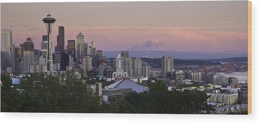 Seattle Sunset - Kerry Park Wood Print