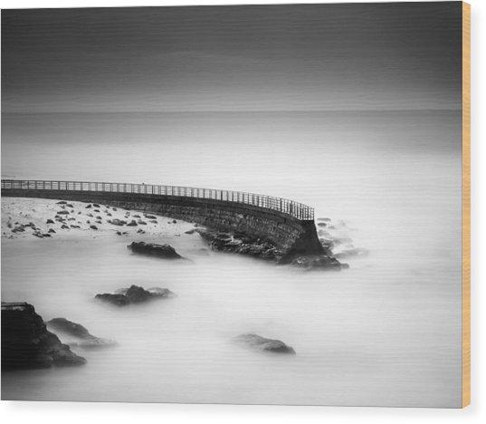 Seawall Wood Print