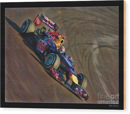 Sebastian Vettel - Red Bull Wood Print