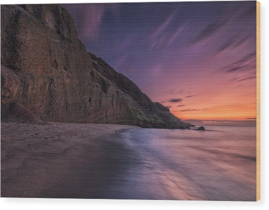 Secluded Sunset Maui Wood Print