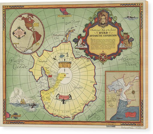 Second Byrd Antarctic Expedition Wood Print