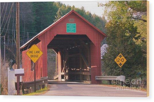 Second Covered Bridge. Wood Print