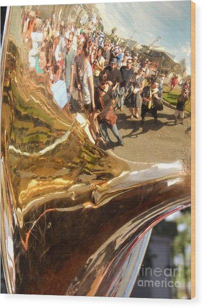 Second Line Tuba Wood Print