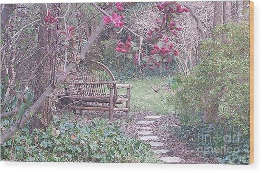 Secret Garden Wood Print