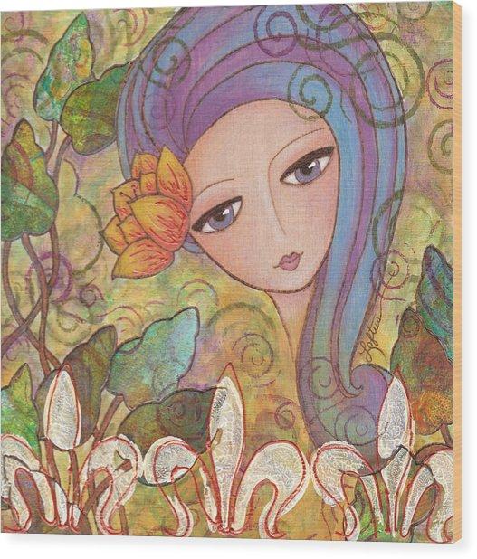 Secret Garden Wood Print by Joann Loftus