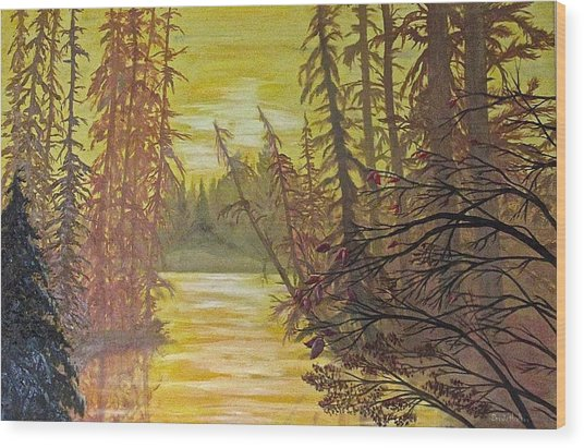 Secret Passage Wood Print