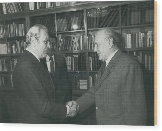 Secretary-general Visits Hungary Wood Print by Retro Images Archive