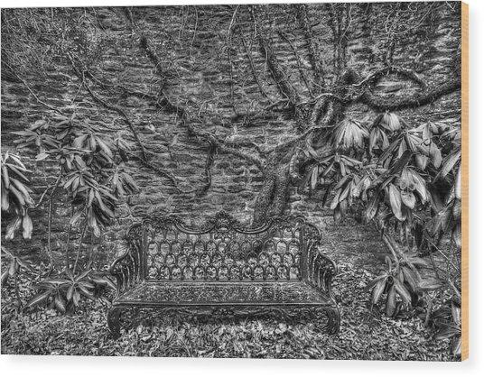 Secrets Of The Garden Bw Wood Print