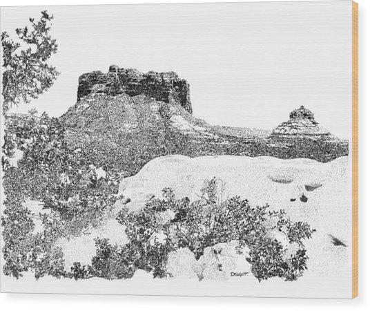 Sedona 1 Wood Print