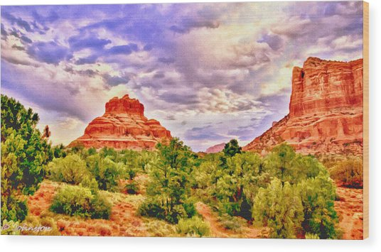 Sedona Arizona Bell Rock Vortex Wood Print