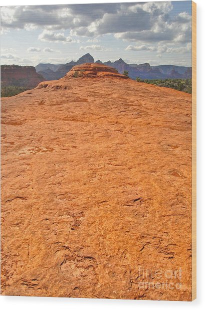 Sedona Arizona Submarine Rock Wood Print by Gregory Dyer