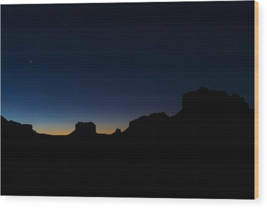 Sedona At Dawn Wood Print