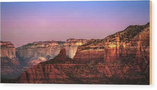 Sedona At Twilight Wood Print